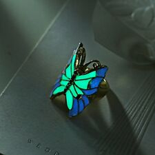 Butterfly Womens Rings Glow in the Dark For Women Luminous Ring Luxury Jewelry