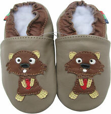 shoeszoo squirrel dark grey 12-18m S soft sole leather baby shoes
