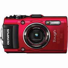 Olympus tough TG-4 wasserdichte Digitalkamera TG4 rot Neuware  + LG-1 LED Light