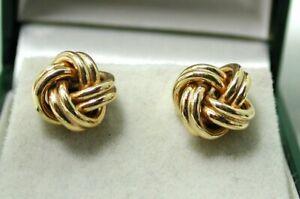 Very Nice Pair Of 9 carat Rosie Gold Knot Shaped Stud Earrings