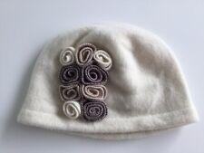 Retro  Cloche Style Hat In Cream Wool. New