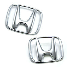 """Fits Honda Civic FD Sedan 2006 11 Set Front+Rear Logo Emblem """"H"""" Genuine Chrome"""