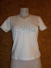 Tee shirt  équitation EQUI THEME Diamond (963080101) , femme / BLANC en S