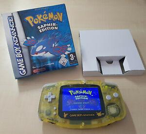 Pokemon Saphir Edition Deutsch GameBoy Advance Spiel + Box/Hülle OVP Repro