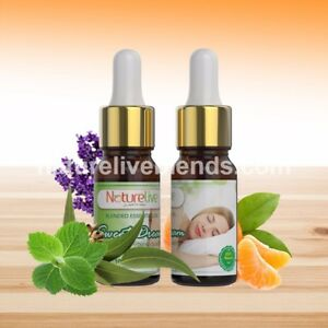 Essential oil blends for insomnia relief and sleep well (2 x 10ml)