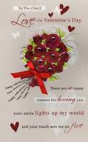 To The One I Love Valentine's Day Card Hand-Finished Greeting Cards