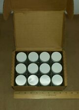 Box Of 12 Custom Bottle Inc. 4oz Plastic Bottle w/ Aluminum Cap Car Fluid Sample