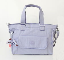 NWT Kipling Women's New Elise Shoulder Bags With Furry Monkey Lilac