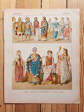 Historic Etruscan Costume - 1882 - Fashion History, Original Print, chromolitho