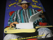 GARTH BROOKS get wide-eyed over contract WHOA...!!! 1990 Promo Poster Ad mint