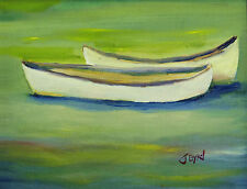 Pond, boat, fishing, fresh, water,print,from original,- Skiff In Calm waters