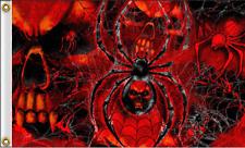 New listing Skulls Spider Web Motorcyle Flag (3' X 5') Biker Flag