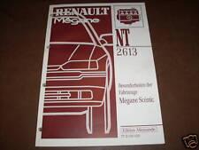 Workshop Manual Renault Megane Scenic Motor, Piece 1996