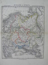 Antique map ,mapa ,carte European Russia / landkaart Europees Rusland c1850