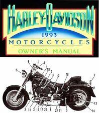 1993 HARLEY-DAVIDSON ALL MODELS OWNERS MANUAL -XLH-FXR-FXDWG-FLSTF-FLHS-FLHTC