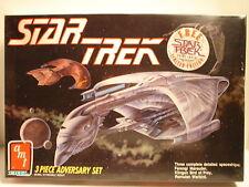 1989 AMT/ERTL Sealed Ferengi Marauder, Klingon Bird of Prey and Romulan Warbird.
