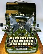 c1918 The Printype OLIVER No. 9 Typewriter Desktop +Cover WORKS #753671 Antique