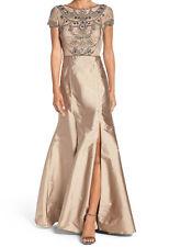 Adrianna Papell New Embellished Mesh & Taffeta Ballgown Size 6 #HN 593