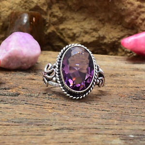 Glorious African Amethyst Gemstone 925 Sterling Silver Handmade Ring All Size