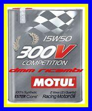 2 Litri Olio Motore Auto MOTUL 300V 15W50 Competition 4t. Motosport Racing