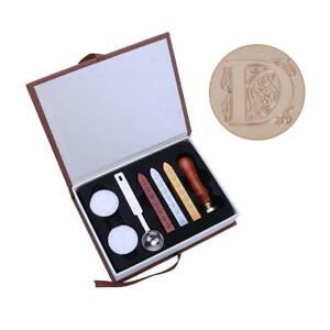 26 English Alphabets Five-petaled Flower Metal Hot Sealing Wax Clear Stamp Set