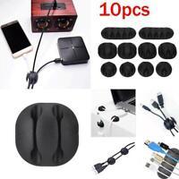 10pcs Cable Tidy Clips Gesti/ón de larga duraci/ón Universal Office Cable Clips Desktop Cord Holder Cable Organizador