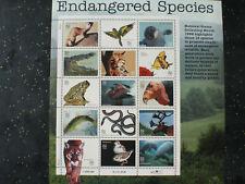 USA 1995 Block Bedrohte Arten #3105 Endangered Species 15 x 32 cent Sheet MNH