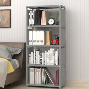 4 Cube Storage Shelf Rack Bookcase DIY Cabinet Organizer Bookshelf Display Unit