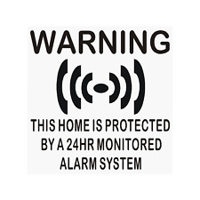 6 x HOME Protected-24hr Alarm System-Internal Stickers-Premises,Safety,Security