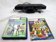 Xbox 360 Kinect Camera with Sports Season 2 and Adventure Games Tested Working