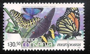 pc139 Mexico Conserva MNH paper 3 Sc#2436 Mc#3121C Et#mc139 butterflies