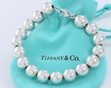 """Tiffany & Co Hardwear Silver 10mm Ball Bead 7.5"""" Bracelet $275+ w Pouch Hardware"""