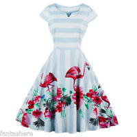 New Floral Cap Sleeve 50s 60s Rockabilly Vintage Swing Party Prom Cocktail Dress