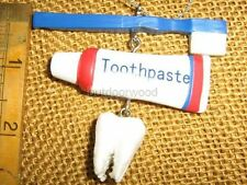 Dentist Tooth Toothpaste & Brush Ornament hygienist orthodontics by Cannon Falls