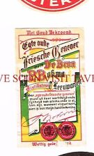 Switzerland Leeuwarden De Bron P Bokma Beer label Tavern Trove