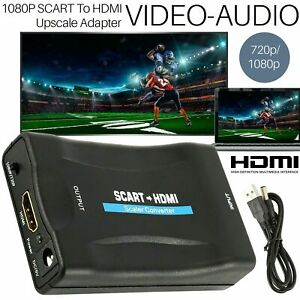 1080P SCART To HDMI Composite Video Scaler Converter Audio Adapter For DVD TV UK