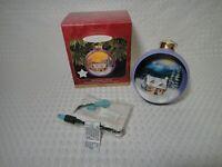 1997 Hallmark Keepsake Christmas Lighted Ornament The Warmth of Home Cabin