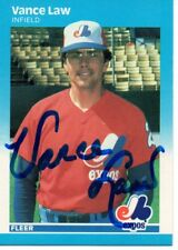 Vance Law Montreal Expos 1987 Fleer Signed Card