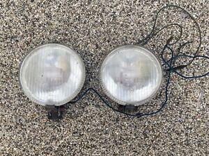 Vintage FER Halogen chrome round Spot Light fog lamps 15cm diam- classic car