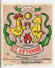 Etiqueta de Vino Hacienda El Retamar Benalmadena (CV-913)