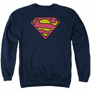 Superman Logo Men's Blue Crewneck Sweatshirt Blue