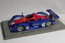 SPARK MG LOLA EX 257 #37 SEBRING 2003 1:43