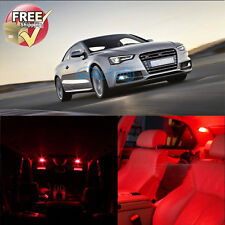 Error Free Red Interior LED Lights Package 8 Pieces Fit For Audi A5 S5 Canbus