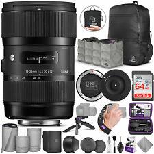 Sigma 18-35mm F1.8 Art DC HSM Lens for Nikon DSLR Cameras w/ USB Dock and Bundle
