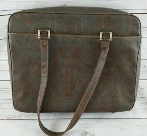 "Buxton Tooled Paisley Briefcase Bag Purse 12.5 x 16.5"""