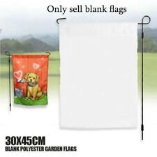 10Pcs 30x45cm Sublimation Blank Polyester Lawn Garden Flags Parade Banners White