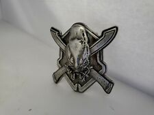NEW OFFICIAL XBOX HALO 3  ODST COVENANT SKULL BADGE BELT BUCKLE METAL HEAVY DUTY