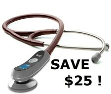 "NEW ADC 658 Electronic Digital BURGUNDY Stethoscope ""Littmann"" Style w/ $25 Gift"