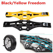 1X PTU Black/Yellow Car Truck Safety Tire Wheel Anti-skid Snow Chain Belt Chains