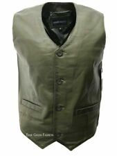 Men's 5226 Olive Made from 100% Soft Leather For any Occasion Classic Waistcoat
